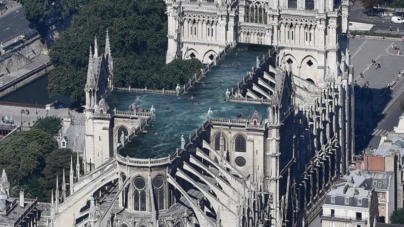 Idé: Tag en svømmetur på Notre Dame