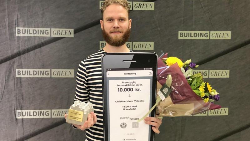 Arkitekt fra KADK vinder pris for bæredygtig brug af beton