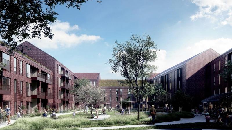 Hernings gamle hospitalsgrund får 92 nye boliger