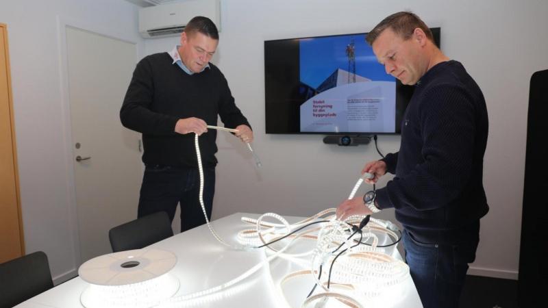LED-belysning på bånd til byggepladsen