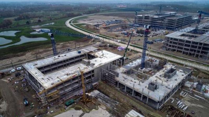 Første råhus er færdigt ved SDU-projekt